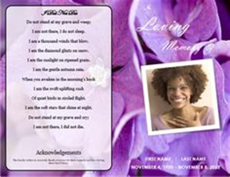 bi fold memorial card template pages 1000 images about printable funeral program templates on