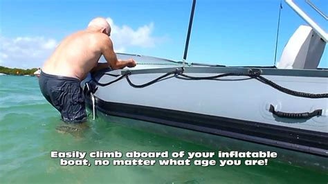 small fishing boat ladders inflatable boat swimming ladder only 29 youtube