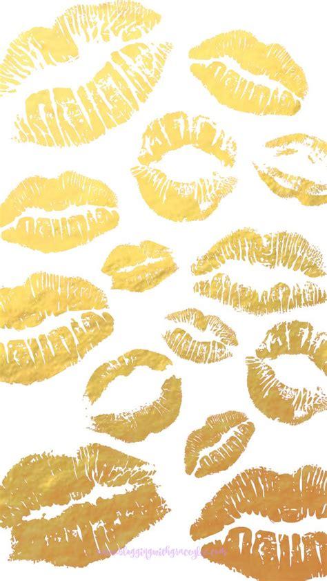 lips wallpaper pinterest gold white lips pout patten inspiration pattern