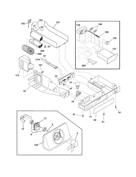 frigidaire refrigerator parts diagram controls diagram parts list for model phs69ejss2