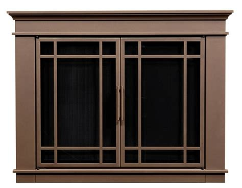 hamilton bronze fireplace doors small replacement