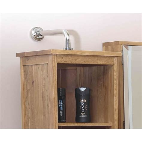 Oak Bathroom Storage Solid Oak Rotating Mirrored Bathroom Storage Unit Click Oak