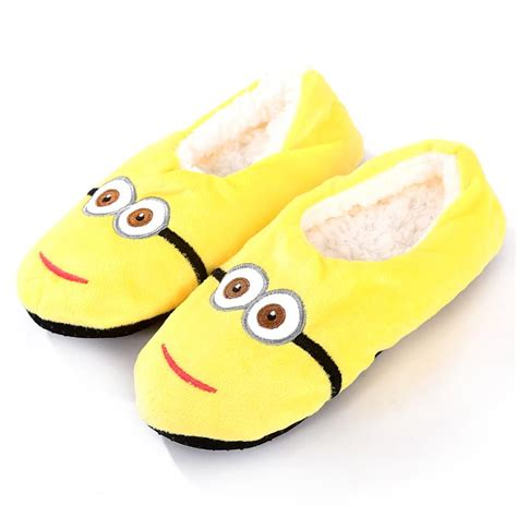 minion house slippers 2016 animal minion slippers women house home floor warm slipper bathroom shoe plus