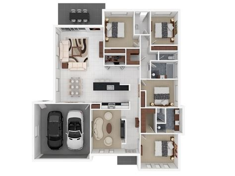 apartment house plans 50 four 4 bedroom apartment house plans architecture