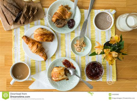breakfast table for two breakfast table stock photo image 54293983