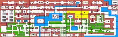 legend of zelda nes map grid original zelda game map compv1 by tenchisaotome on deviantart