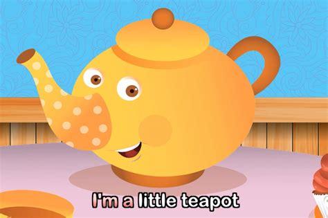 I M A i m a teapot with lyrics nursery rhymes by