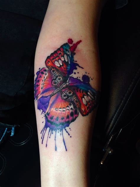 watercolor tattoo ek i watercolor lace fancy butterfly by cara