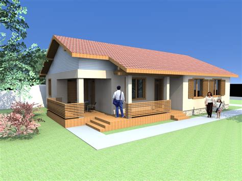 one floor homes small one floor house plans for cabin houses archicad and artlantis rendered