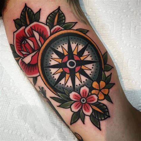compass tattoo american traditional checkout our latest post featuring alex petty