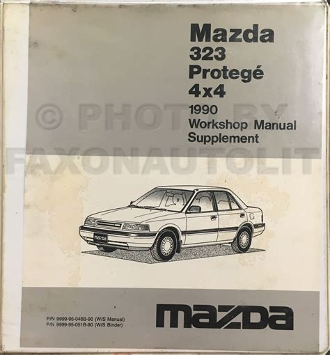 car service manuals pdf 1990 mazda familia electronic toll collection 1990 mazda protege 4wd and 323 wiring diagram manual original