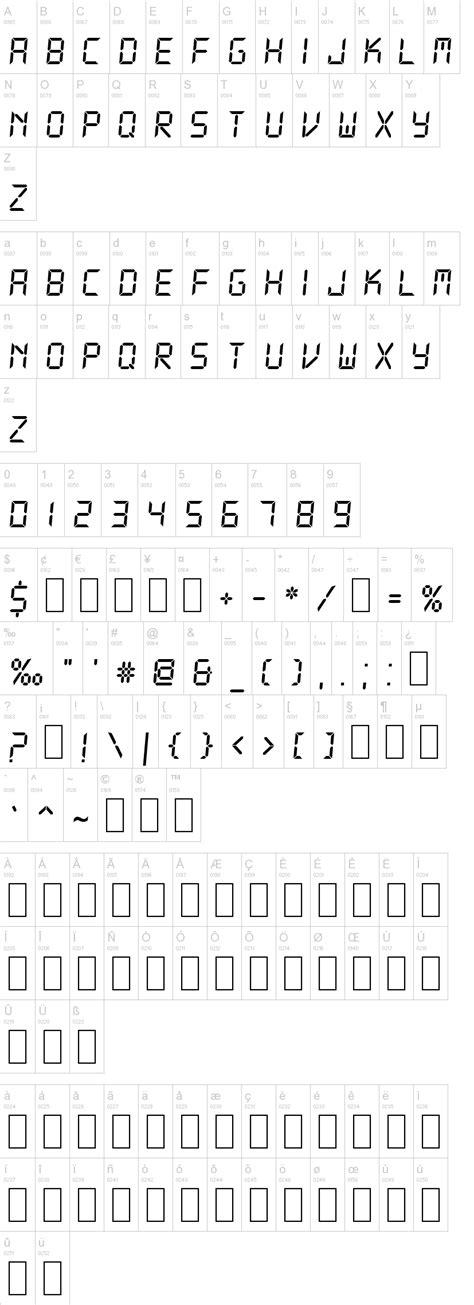 printable digital font ds digital font dafont com