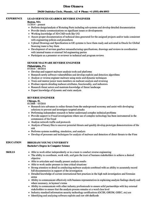 reverse engineer resume samples velvet jobs