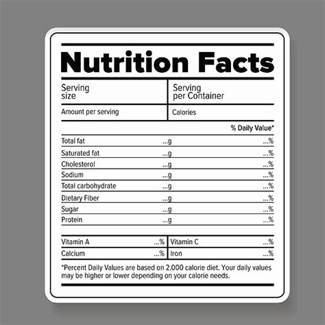 Blank Nutrition Label Template Word New Nutrition Label Template Excel Fresh Chip Bag Template Chip Label Template