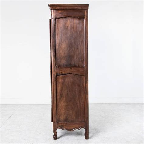 Single Door Wardrobe Closet Solid Walnut Louis Xv Style Bonnetiere Single Door Armoire Cabinet At 1stdibs