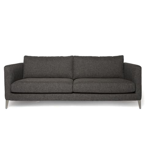 grey fabric couch contemporary sofa in dark grey fabric