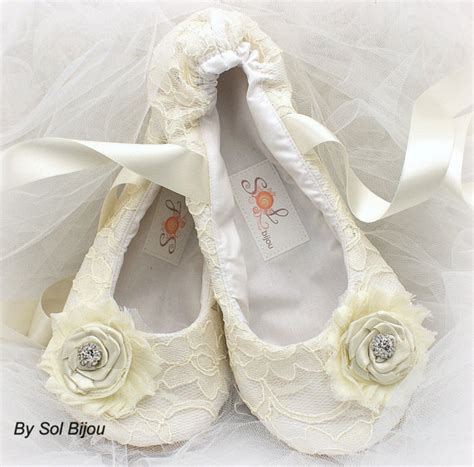 lace slippers for wedding lace bridal flats ballerina slippers in ivory with