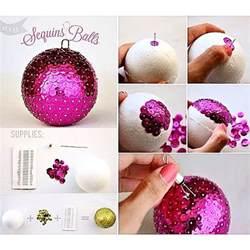 Home Design 3d Outdoor And Garden Tutorial Make Your Own Sequin Balls Ornaments Using A Styrofoam