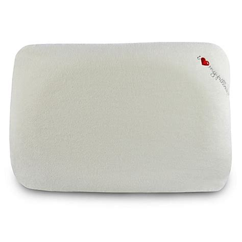my pillow bed my pillow signature contour memory foam bed pillow bed bath beyond