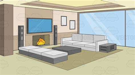 picture of room a modern comfy living room background clipart
