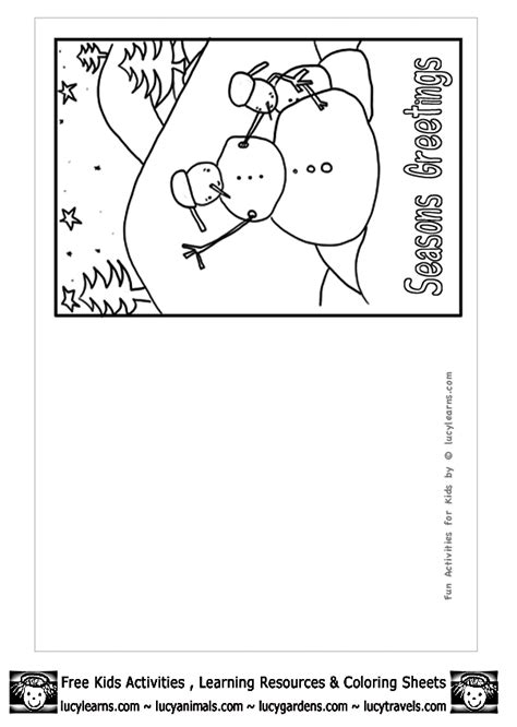 holiday card templates for pages christmas card coloring pages free coloring home