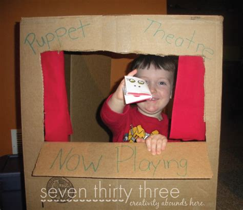 How To Make A Puppet Out Of A Paper Bag - puppet theatre from a cardboard box inspiration made simple
