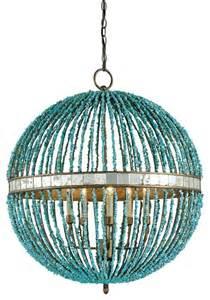 alberto orb chandelier currey turquoise blue island alberto orb chandelier