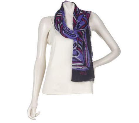 bob mackie s silk chiffon imperial scarf qvc