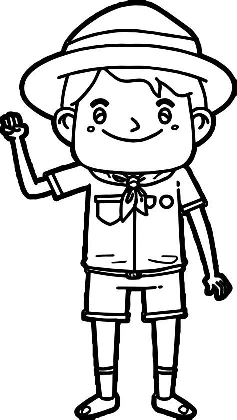 scouts coloring pages scout boy coloring page wecoloringpage