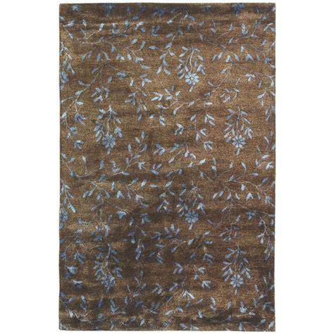 soho rug safavieh soho brown light blue 7 ft 6 in x 9 ft 6 in area rug soh418a 8 the home depot