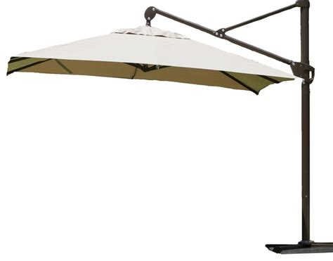 Heavy Duty Patio Umbrellas Abba Patio 10 Ft Heavy Duty Square Offset Cantilever Outdoor Paio Umbrella Contemporary