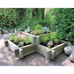tiered wooden corner planter x3 planter beds large gardens 3x3