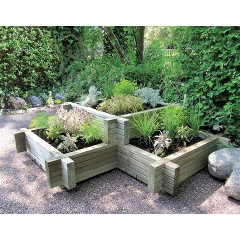 Tiered Garden Planters by Tiered Wooden Corner Planter X3 Planter Beds Large