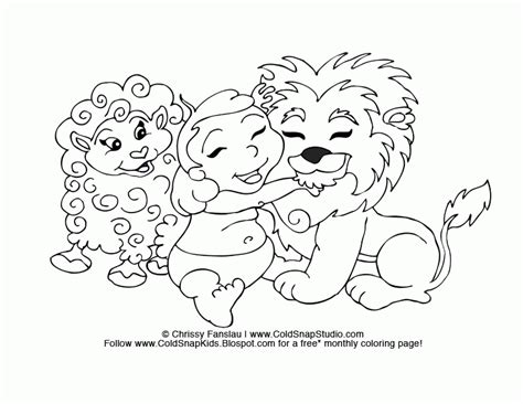 bible coloring pages lion and lamb lion and lamb coloring pages coloring home