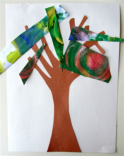 Recycled Art Project For Kids Fall Trees No Time For Flash Artist Project