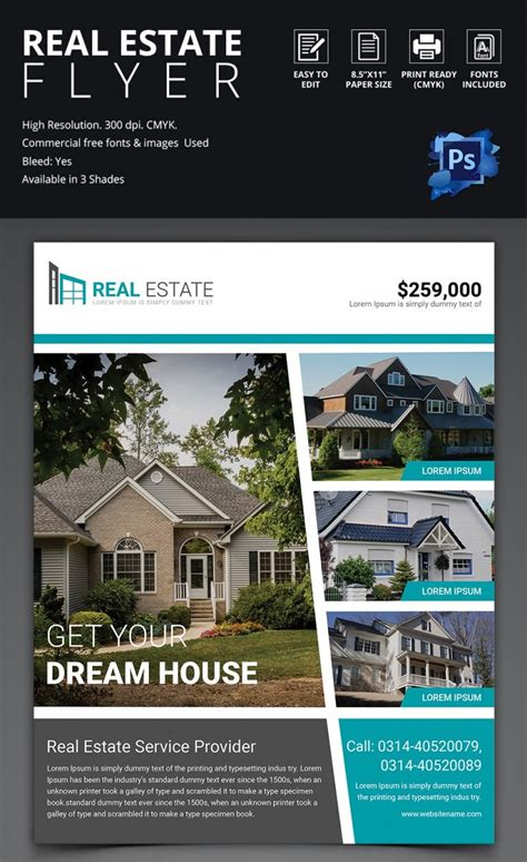 44 Psd Real Estate Marketing Flyer Templates Free Premium Templates Real Estate Listing Flyer Template Free