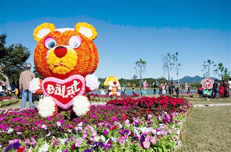 new year flower show dalat flower festival 2016 the even of new year day