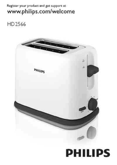 Toaster Philips Hd2566 philips hd2566 70 toaster manual for free now