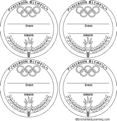 Medal Templates 2 Enchantedlearning Com Medal Design Template