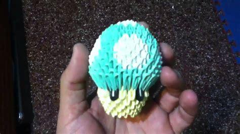 honguito de mario bros en origami 3d