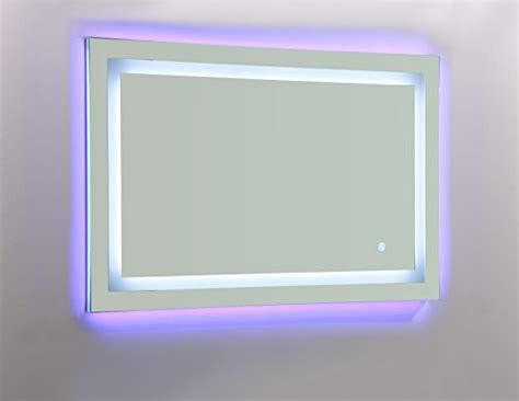 blue bathroom mirror vanity art led lighted vanity bathroom mirror with white