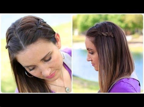 diy  strand waterfall braid cute girls hairstyles youtube