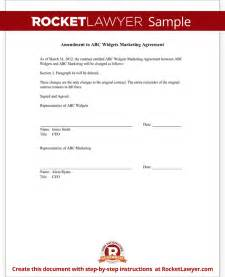 contract amendment form template with sample