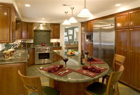 t shaped kitchen island with wooden countertop home l shaped kitchen common but ideal kitchen designs homesfeed