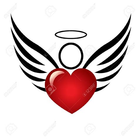 heart wing logo clip art vector clip art online royalty angel clipart suggestions for angel clipart download