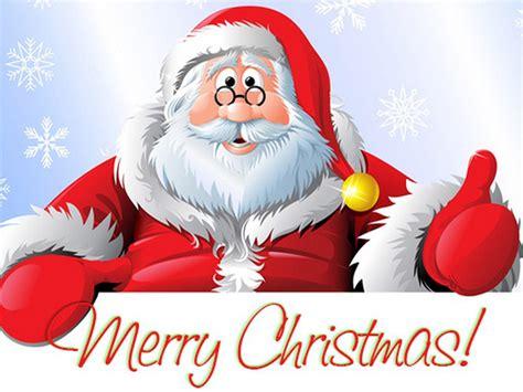 santa claus merry christmas greeting card   year
