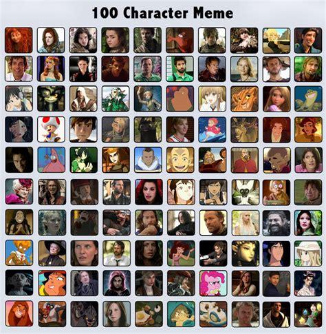 Character Memes - 100 characters meme by noemiette on deviantart