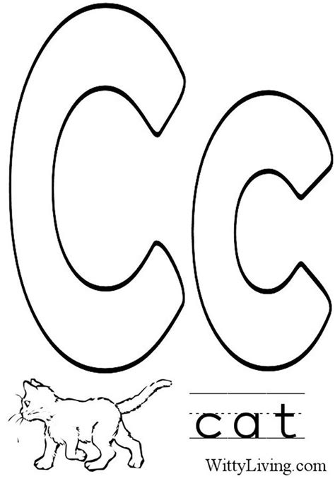 coloring sheet letter c letter c coloring pages to download and print for free