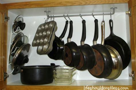 Cabinet Pot Hanger Remodelaholic Installing An In Cupboard Pot Rack
