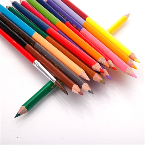 water colored pencils 24 color children supply water soluble colored pencil